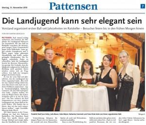 Bericht in den Leine-Nachrichten der HAZ vom 15.11.2010